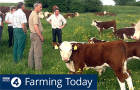 Pasture-fed farmer hosts BBC Radio 4's Farming Today This Week programme which focussed on grass